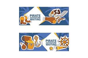 Pirate adventure waiting banner