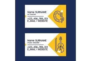 Art or music teacher business cards