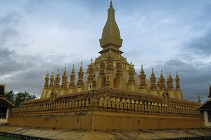 That Luang Buddhist stupa Vientiane,
