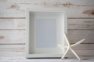 5x7 White Frame and Starfish