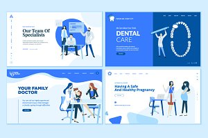 Set of Medical Web Page Designs