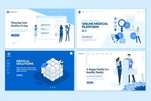 Set of Medical Web Page Designs