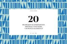 Abstract Scandinavian Pattern Set