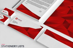 Elegant Red Stationery