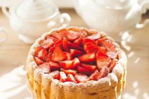 Sweet cake Strawberry charlotte
