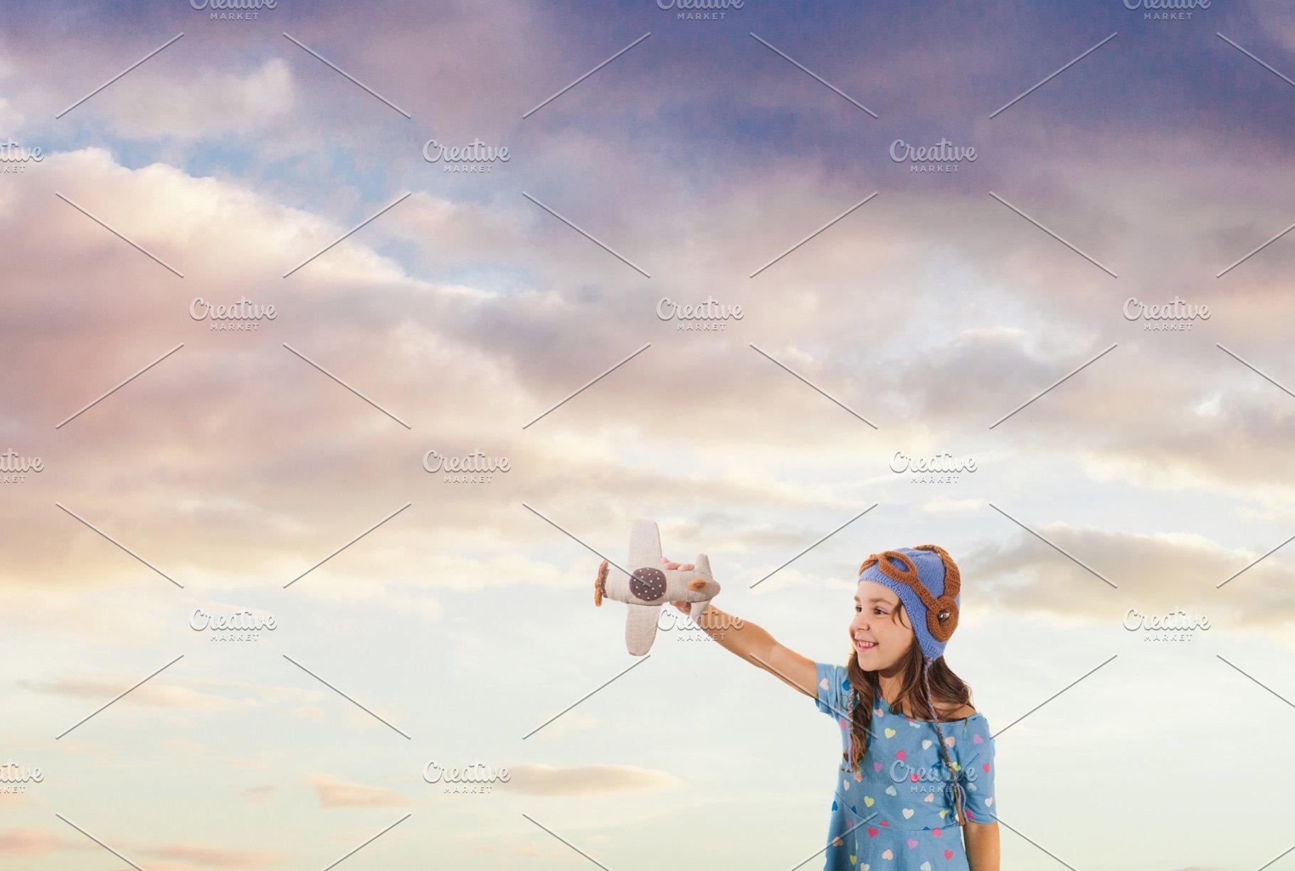 343ae7d419 Cute girl dreaming of summer ~ Holiday Photos ~ Creative Market