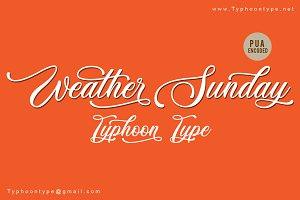 Weather Sunday font