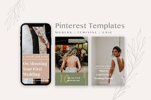 Feminine Pinterest Templates Pack