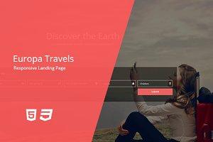 Europa - Travel Landing Page