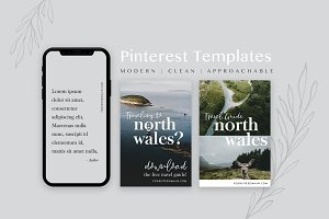 Travel Blog Pinterest Templates Pack