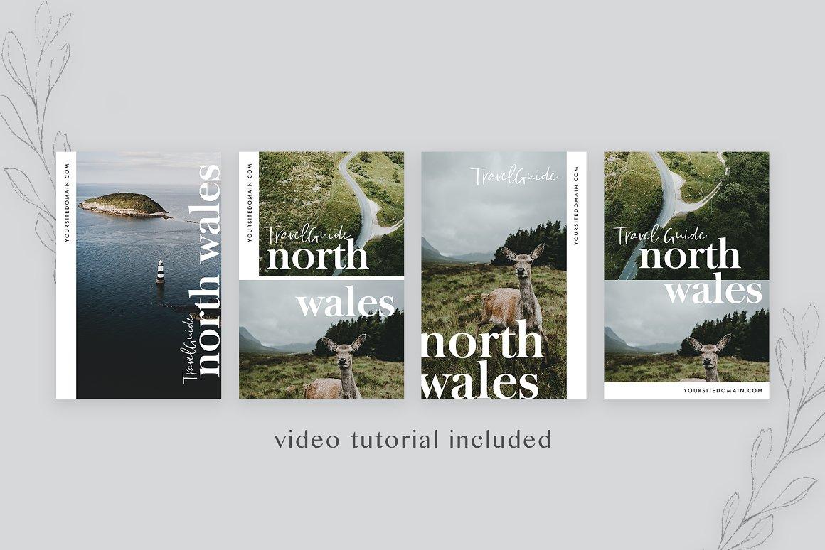 Travel Blog Pinterest Templates Pack