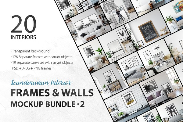 Frames & Walls Scandinavian Bundle-…