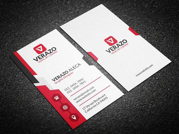 Modern Vertical Business Card Templates Creative Market