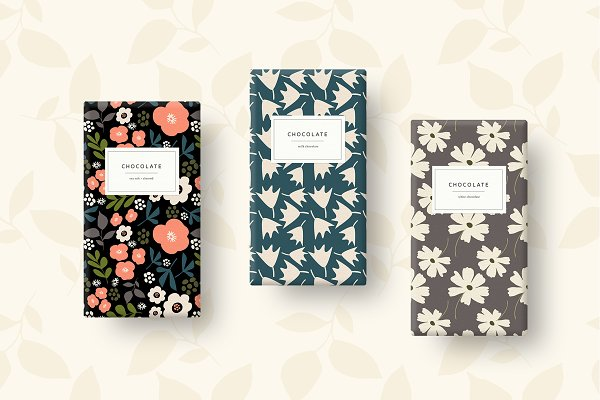 Graphic Patterns:  Sweet Fig -  20 Modern Garden Patterns+Elements