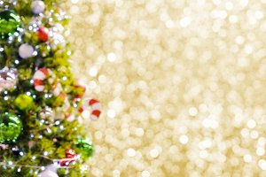 Blurred christmas tree background