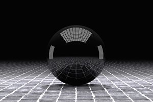 Black 3d sphere
