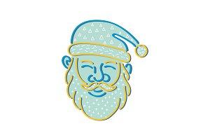 Santa Claus Head Memphis Style
