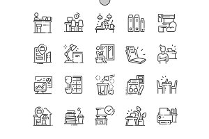 Workplace Line Icons