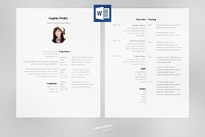 Balanced Resume CV docx Template
