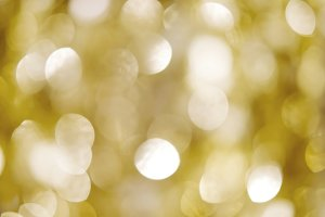 Abstract gold bokeh light background