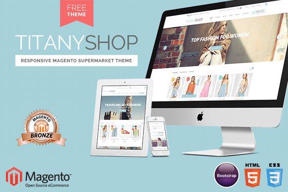Titany Free Magento 19 Theme Magento Themes Creative Market
