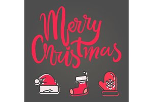 Merry Christmas Bright Banner Vector