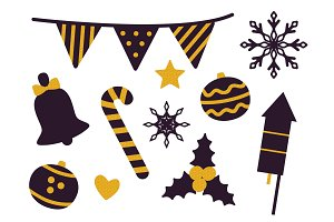 Stuff for Christmas Party Vector