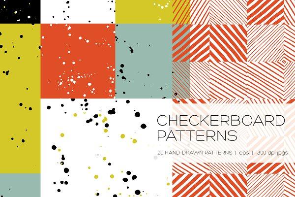 Graphic Patterns - Checkerboard Seamless Patterns