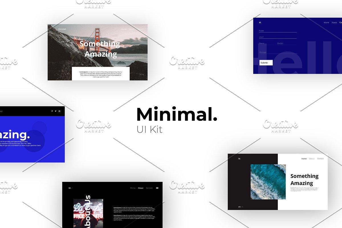 Minimal UI Kit - Adobe XD ~ UI Kits and Libraries ~ Creative