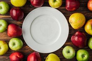 Fresh ripe apples
