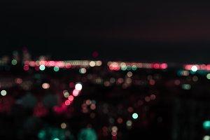 defocused background at night with c