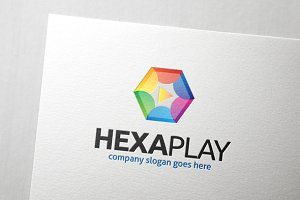 Hexa Play Logo Template