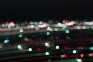 defocused multicolored bokeh lights