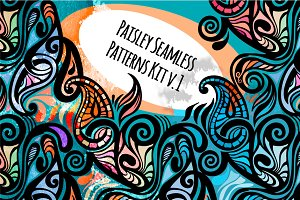 Paisley Seamless Patterns Kit v.1