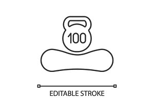 Maximum weight up to 100 kg icon