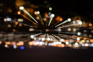 night background with blurred bokeh