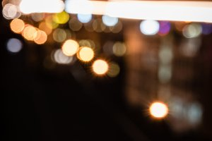 blurred night background with bright