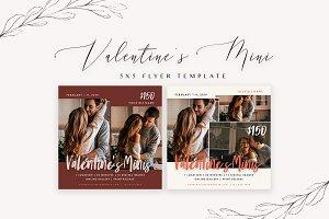 Valentine's Mini Flyer Template 5x5