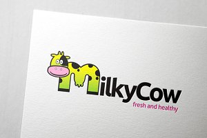 Milky Cow Logo Template