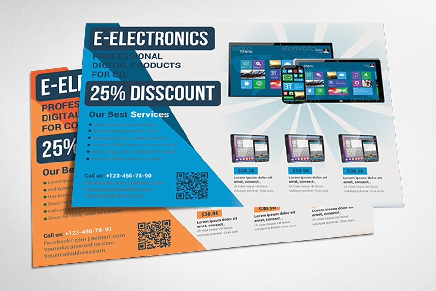 product promotion flyer templats
