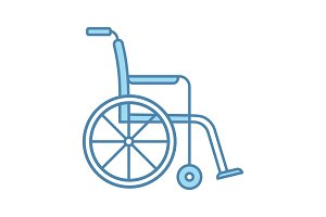 Wheelchair color icon