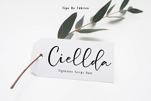 Ciellda || Signature Script Font