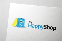 Happy Shop Logo Template