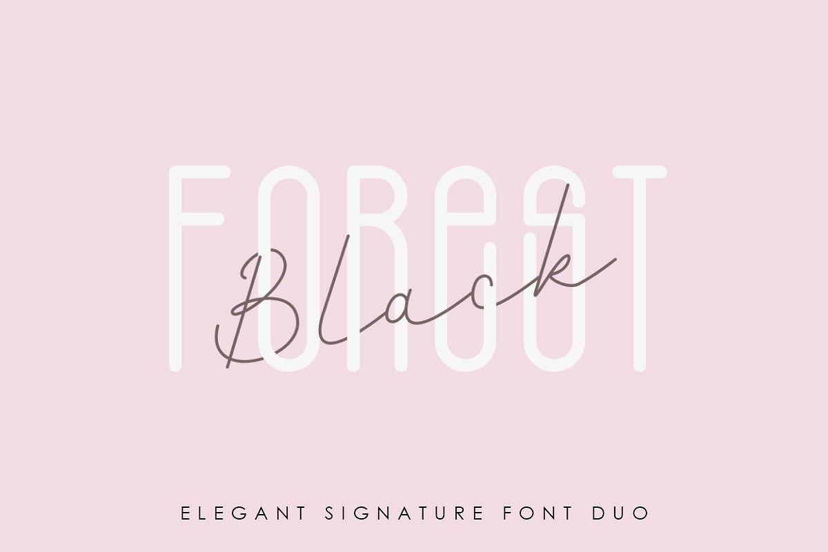 Black Forest l Elegant Font Duo