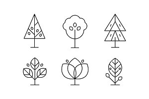 Collection of trees in linear style