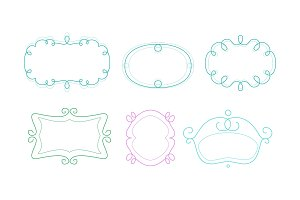 Decorative frames with space for