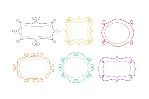 Decorative frames of different