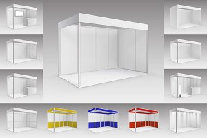 Trade Exhibition Stands Set