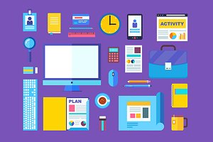 Vector modern design flat icons