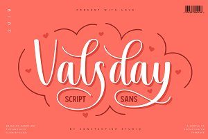 Valsday - Script and Sans Serif